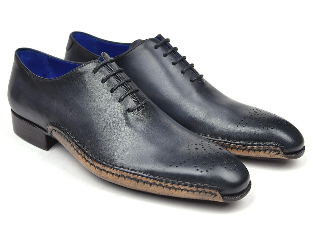 Paul Parkman Opanka Construction Oxfords Anthracite Gray (ID#86A5-ANT)