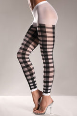 BW611 Lattice Work Pattern Pantyhose