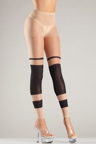 BW718 Layered Stripes Pantyhose