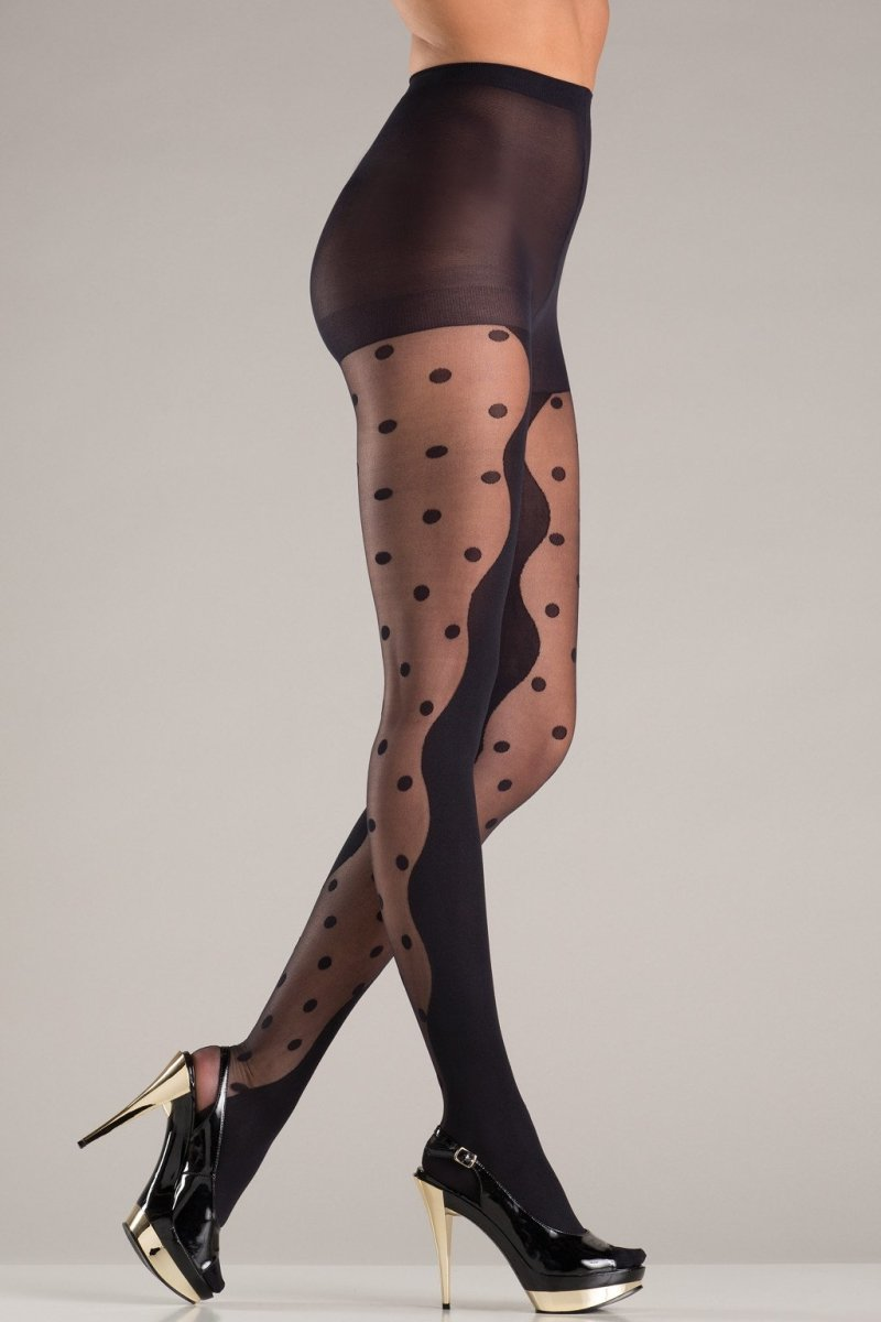 BW726 Polk Dot Panels Pantyhose