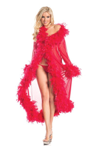 Glamour Women's Night Robe Red