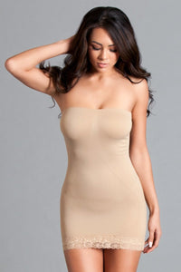 Women's Tube Shape wear Dress - Nude