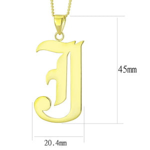 LO230 Gold Brass Chain Pendant with No Stone in No Stone
