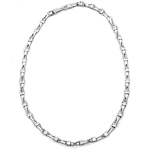 LO2709 Rhodium Brass Necklace with AAA Grade CZ in Clear