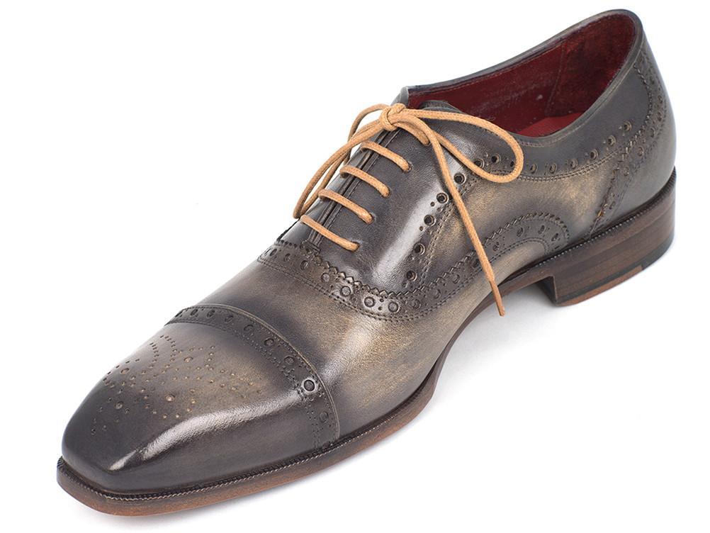 Paul Parkman Men's Captoe Oxfords Gray (ID#024-GRAY)