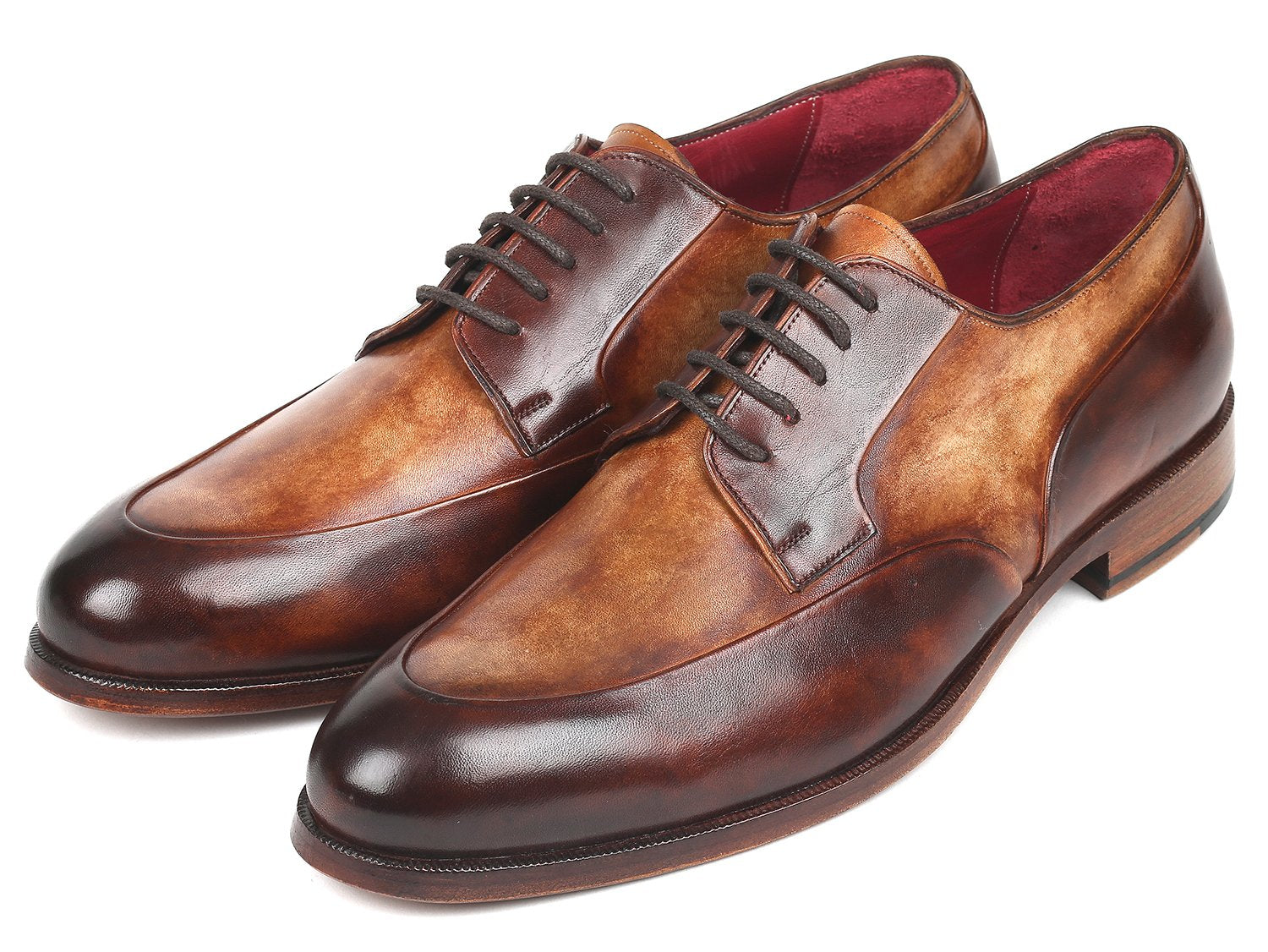 Paul Parkman Men's Dual Tone Brown Derby Shoes (ID#995-BRW)