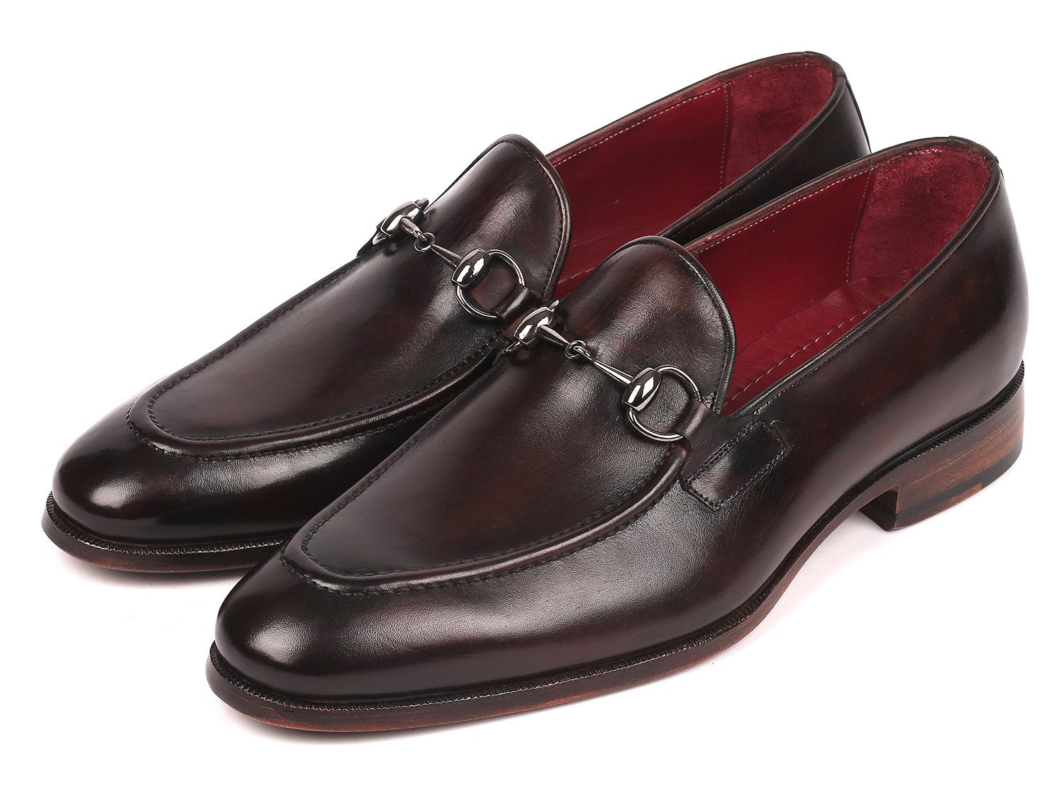 Paul Parkman Men's Horsebit Loafers Dark Brown (ID#65HB74)