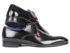 Paul Parkman Medallion Toe Black Derby Shoes (ID#54RG88)