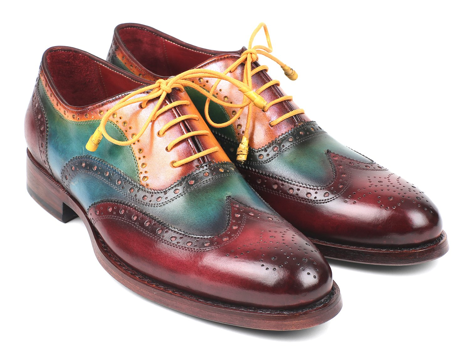 Paul Parkman Wingtip Oxfords Goodyear Welted Multi-Color (ID#027-MIX)