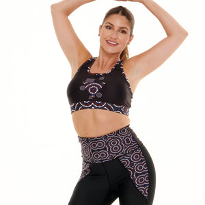 Signature On Black Butiful/Vibrant Sports Bra