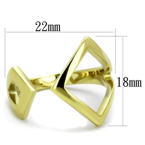 TK1903 IP Gold(Ion Plating) Stainless Steel Ring with No Stone in No Stone