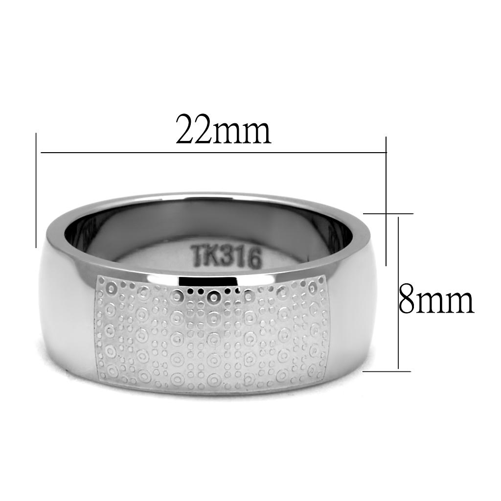 TK2945 High polished (no plating) Stainless Steel Ring with No Stone in No Stone