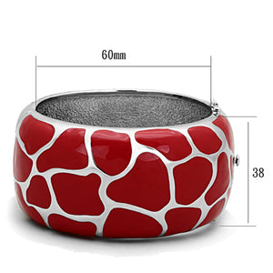 TK294 High polished (no plating) Stainless Steel Bangle with Epoxy in Siam