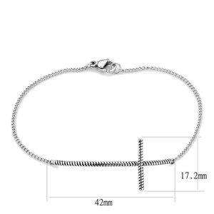 TK3667 High polished (no plating) Stainless Steel Bracelet with No Stone in No Stone