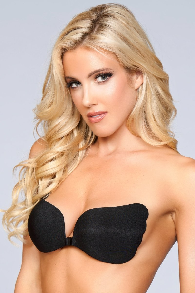 XB069 BK Hooked Up Invisible Bra - Black