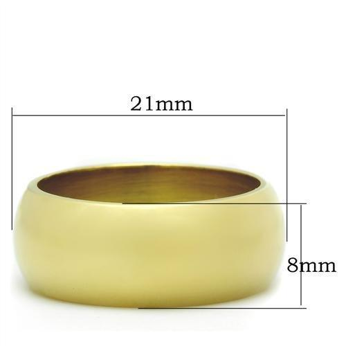 GL012 IP Gold(Ion Plating) Brass Ring with No Stone in No Stone
