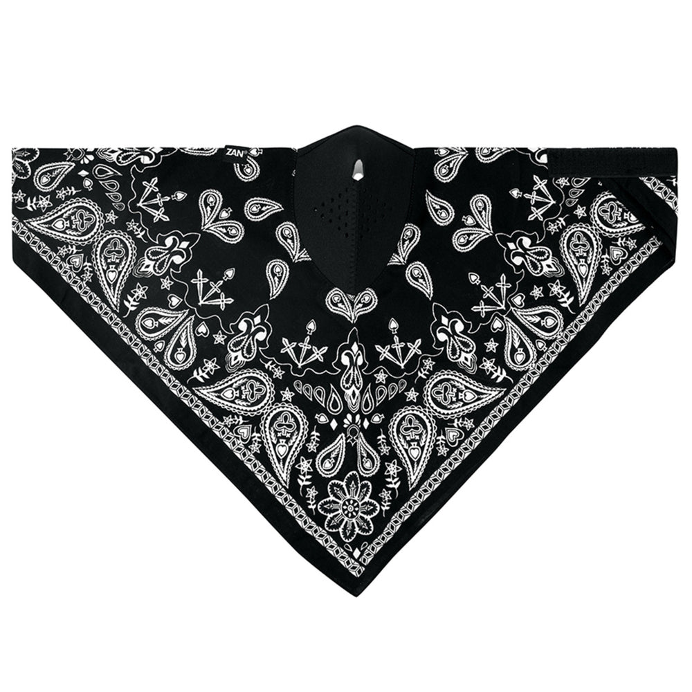WNEO101 NEODANNA Mask- Cotton/Neoprene- Black Paisley