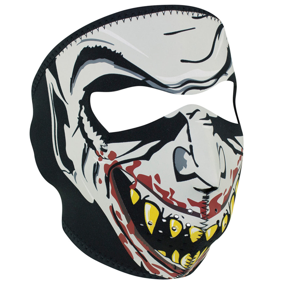 WNFM067G ZAN® Full Mask- Neoprene- Vampire, Glow in the Dark