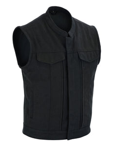 DS909 Men's Modern Utility Style Canvas Vest
