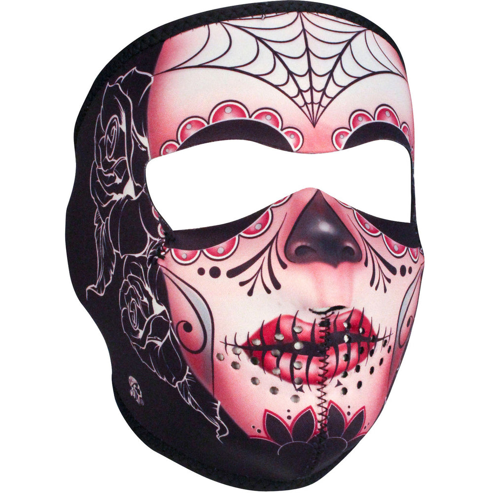 WNFM082 ZAN® Full Mask- Neoprene- Sugar Skull