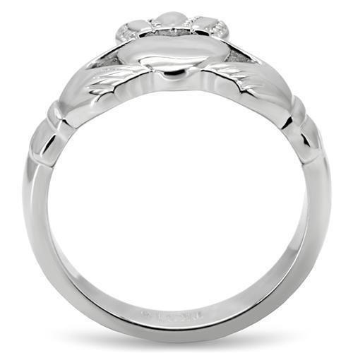 TK160 High polished (no plating) Stainless Steel Ring with No Stone in No Stone