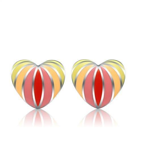 TK269 High polished (no plating) Stainless Steel Earrings with No Stone in No Stone