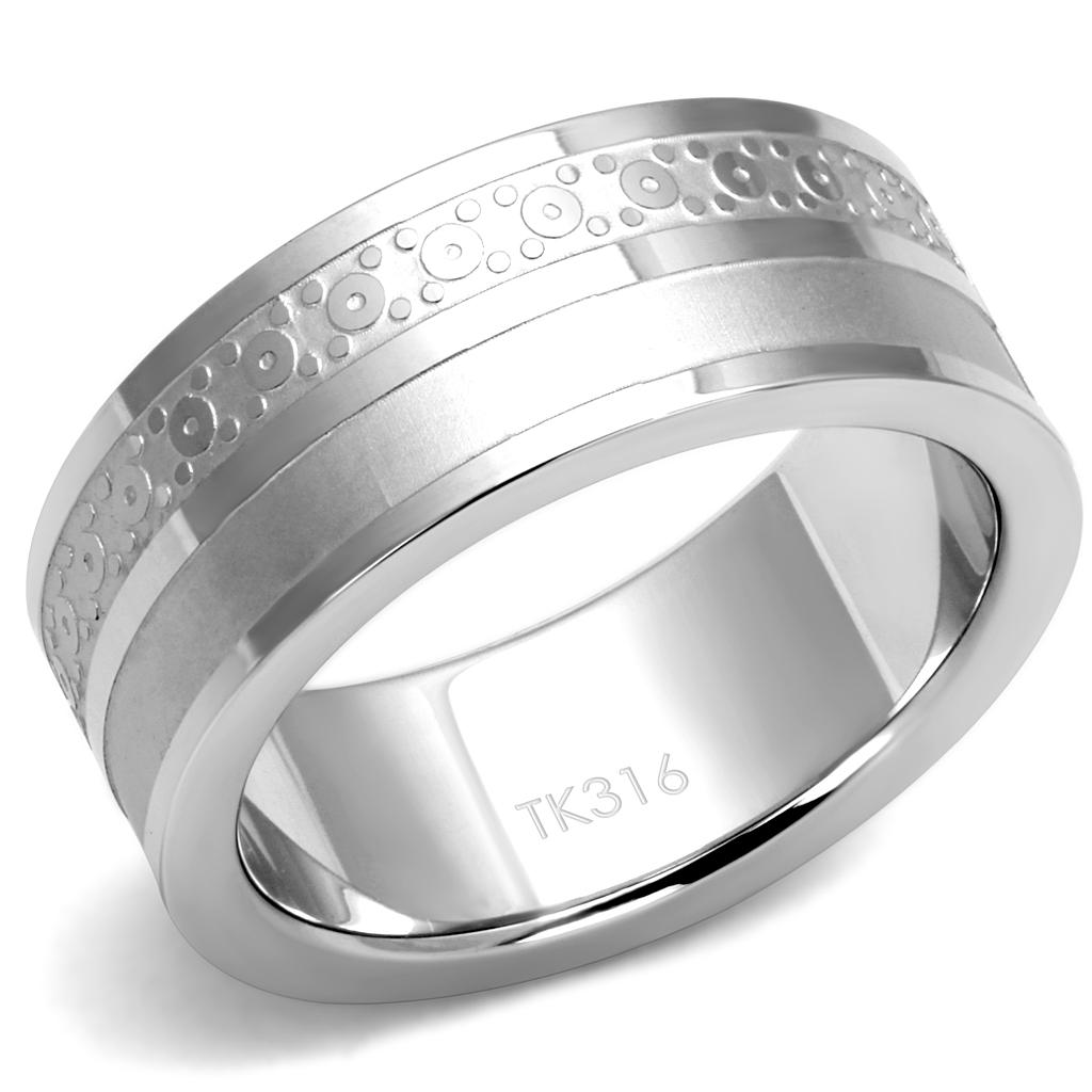 TK2944 High polished (no plating) Stainless Steel Ring with No Stone in No Stone