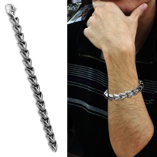 TK571 High polished (no plating) Stainless Steel Bracelet with No Stone in No Stone