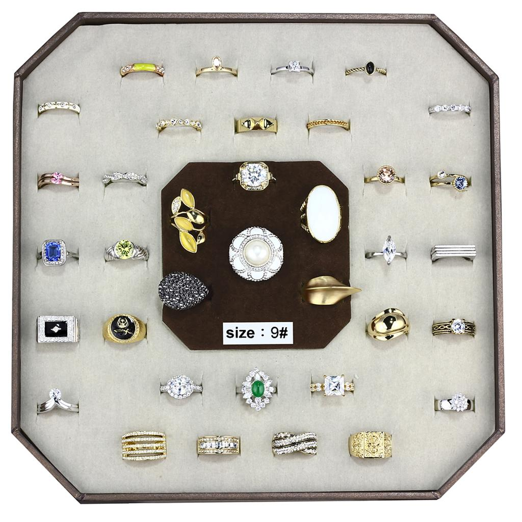 VK-001-SIZE9 Assorted Brass Ring with Assorted in Assorted