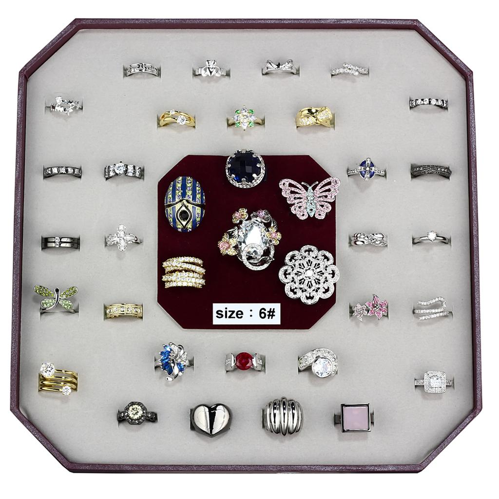 VK-012-SIZE6 Assorted Brass Ring with Assorted in Assorted
