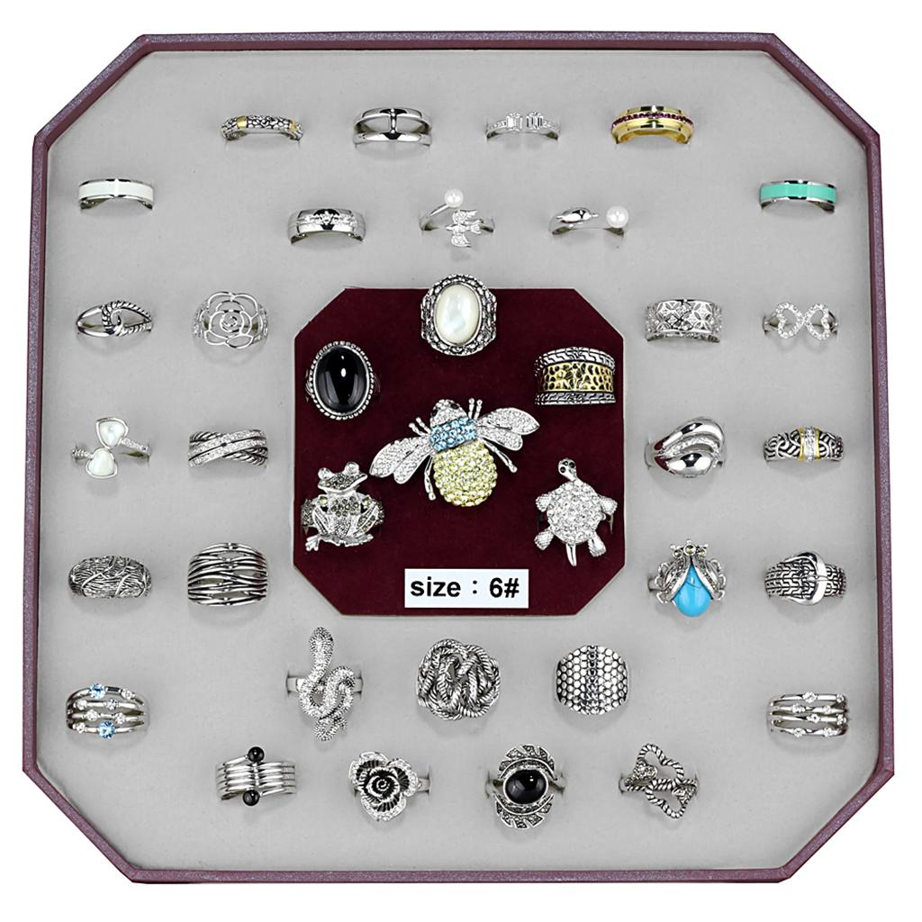 VK-017-SIZE6 Assorted Brass Ring with Assorted in Assorted