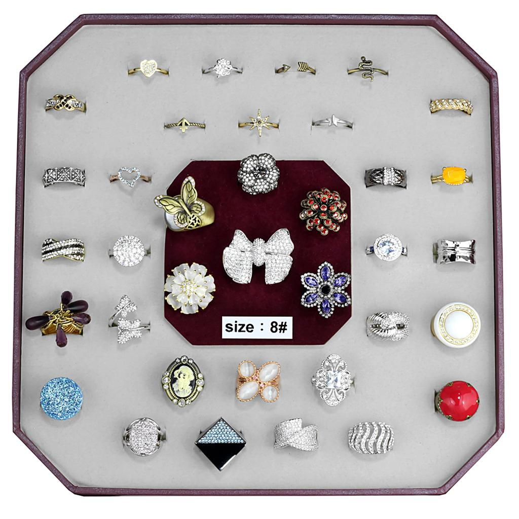 VK-032-SIZE8 Assorted Brass Ring with Assorted in Assorted