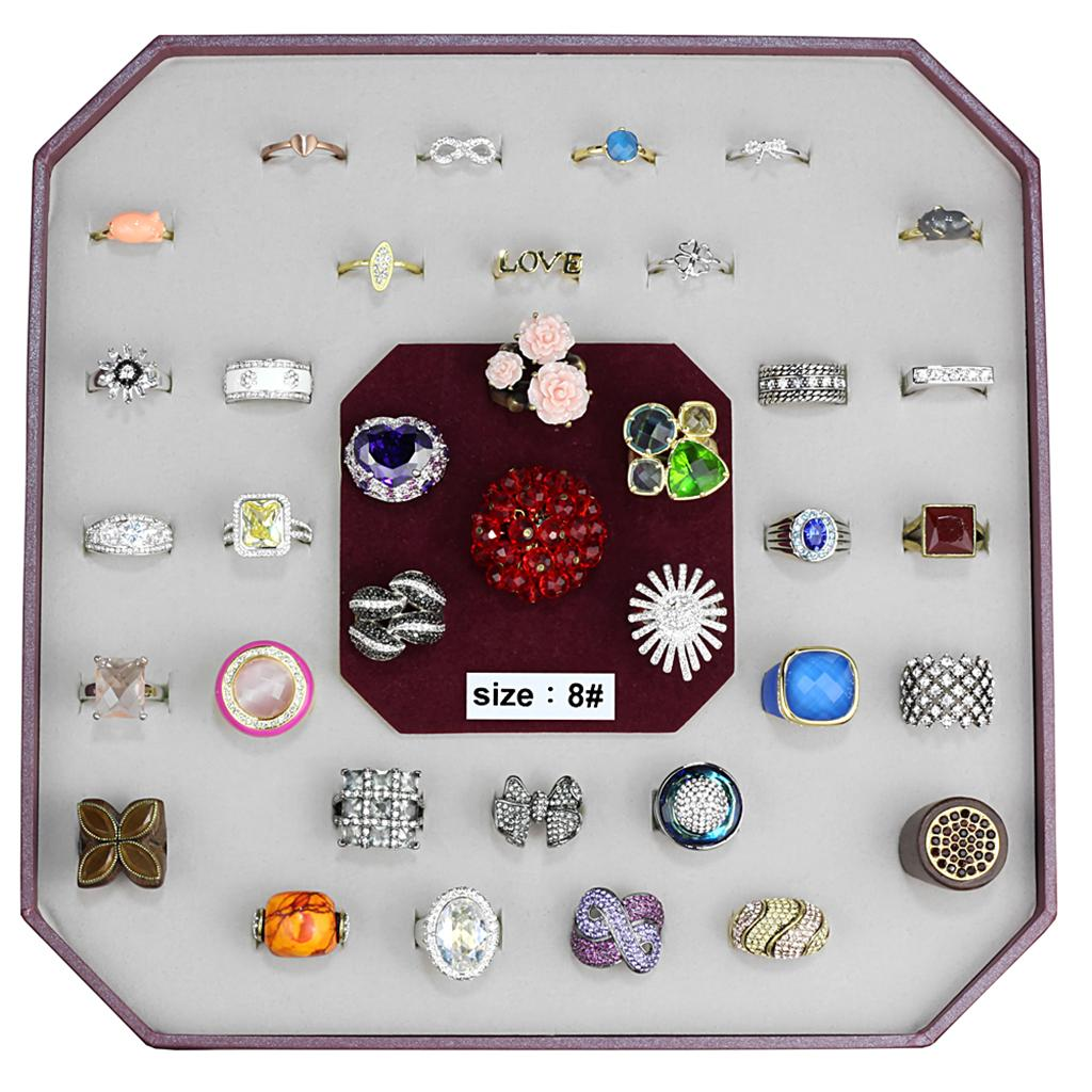 VK-033-SIZE8 Assorted Brass Ring with Assorted in Assorted