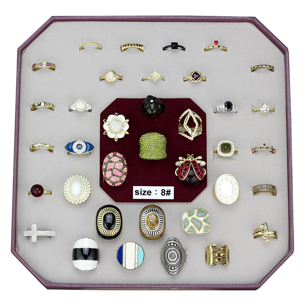 VK-042-SIZE8 Assorted Brass Ring with Assorted in Assorted