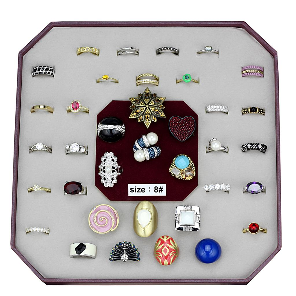 VK-048-SIZE8 Assorted Brass Ring with Assorted in Assorted
