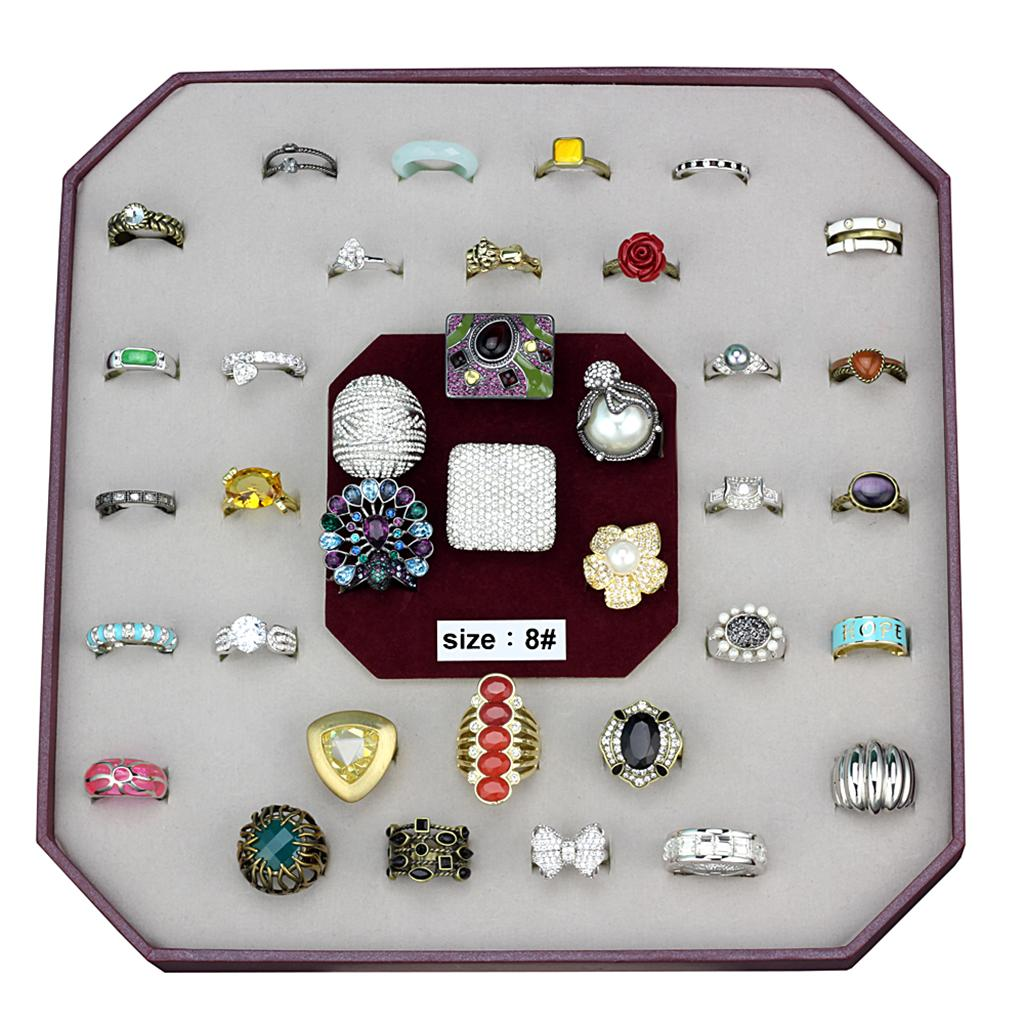 VK-054-SIZE8 Assorted Brass Ring with Assorted in Assorted