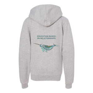 GRCDC Narwhal Youth Fleece Zip Up Hoodie