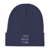 ISSA HALAL TING Embroidered Beanie