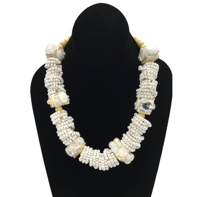 White Statement Necklaces for Summer Fashion