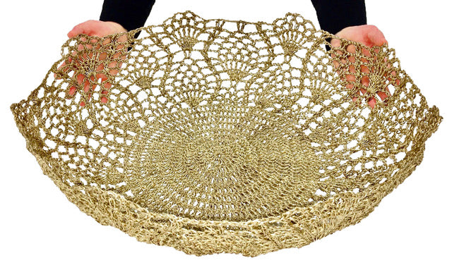 Moonbasket Large Peacock Lace Bowls