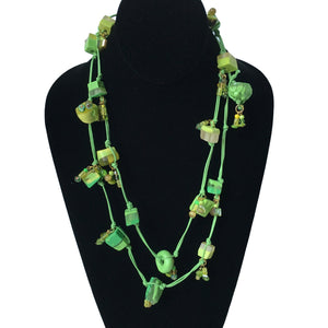 Candy Crunch Necklace: Green With Envy on Green Chord