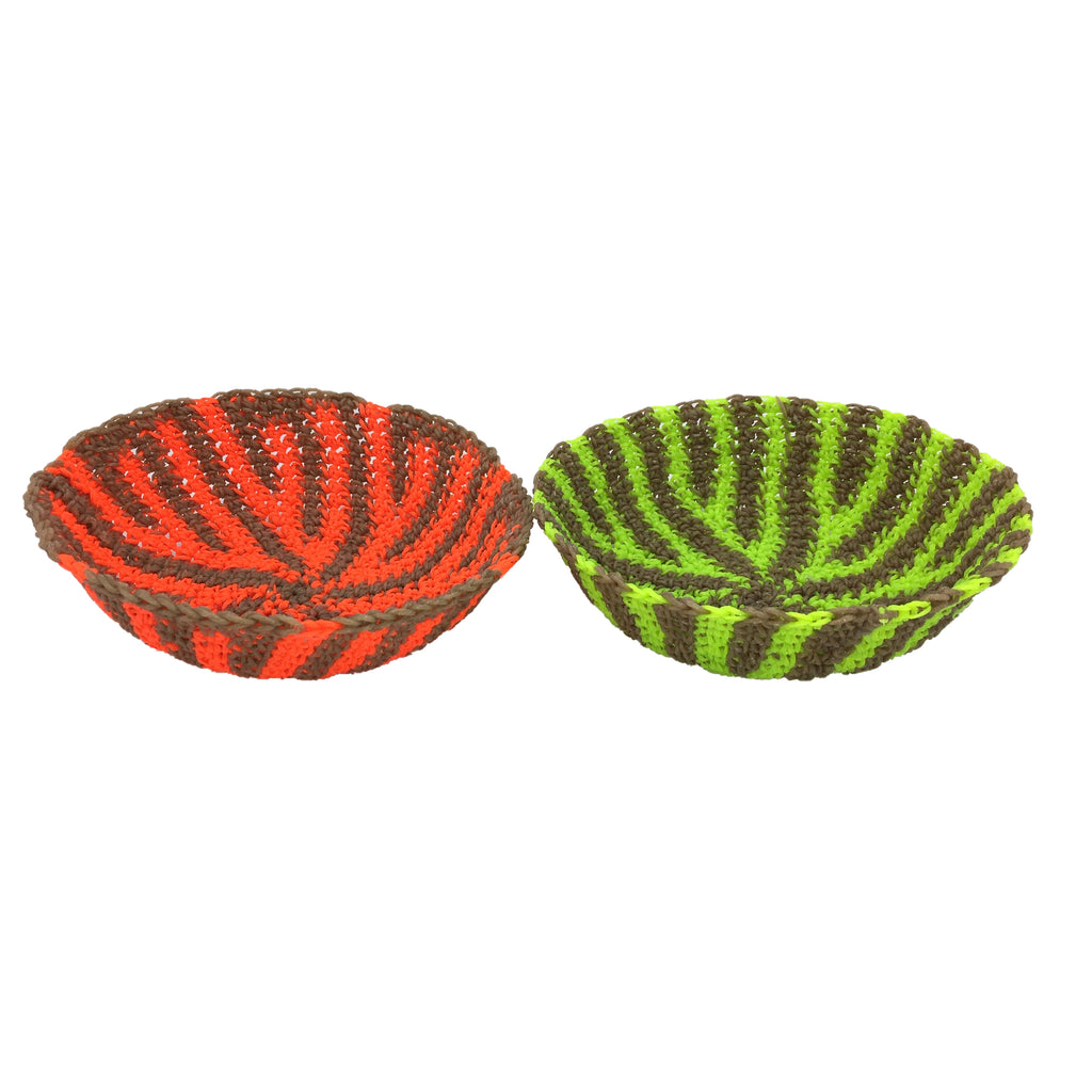 Moonbasket Small Neon Striped Bowls