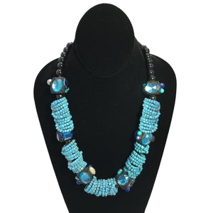 Blue is the Warmest Necklace
