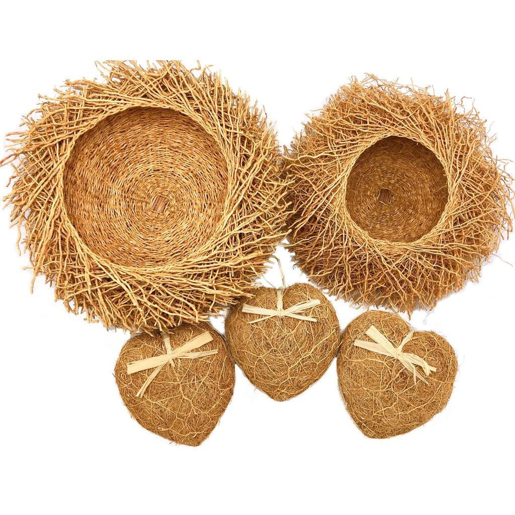 Vetiver Baskets & Hearts