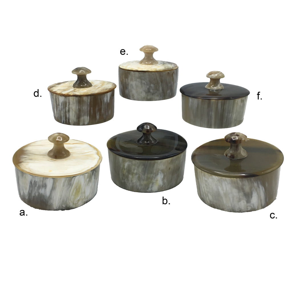 Horn Containers with Lids