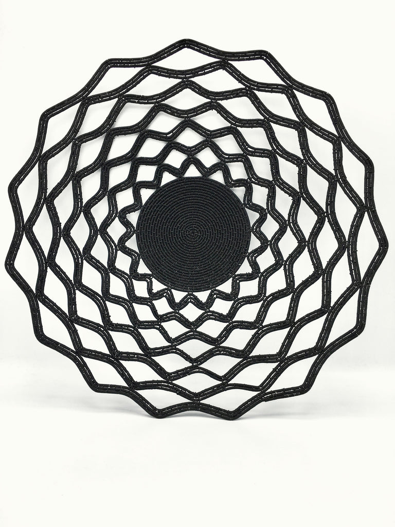 "Zenzulu<sup>™</sup> Collection: Black ""Lace"" Platter"