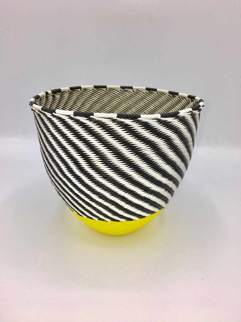 Zenzulu<sup>™</sup> Small Striped Bowl with Yellow Bottom