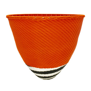 Zenzulu<sup>™</sup> Medium Orange Bowl with Striped Bottom