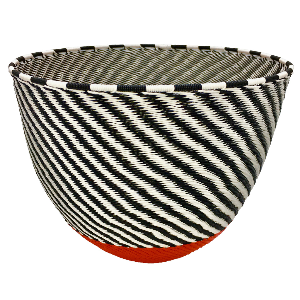 Zenzulu<sup>™</sup> Medium Striped Bowl with Red Bottom
