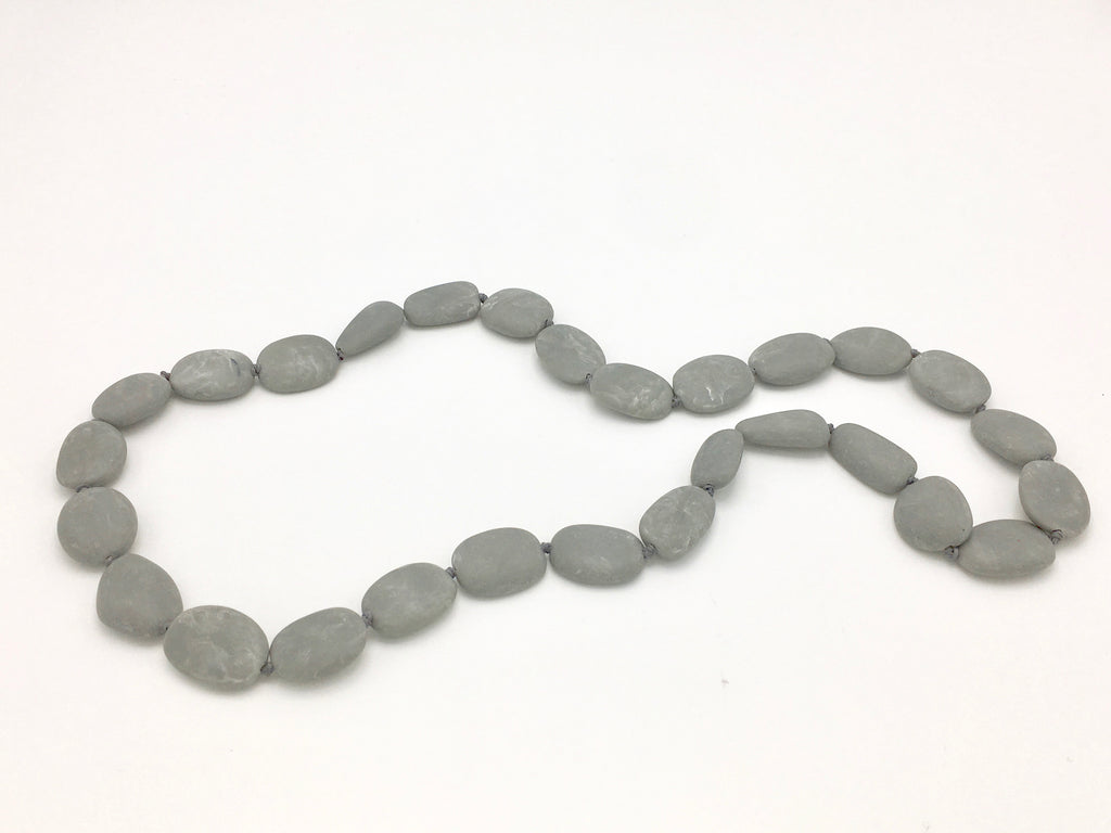 Skipping Stones Necklaces in Grays